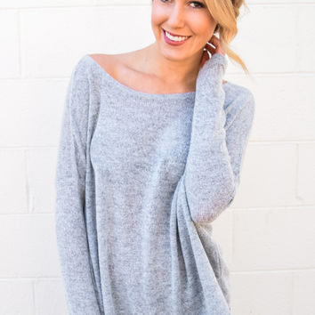 Simple and Soft Sweater Heather Grey