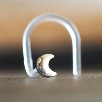 Crescent Moon Nose Stud