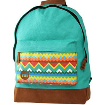 Mi Pac Turquoise Tribal Print Backpack From New Look Want