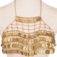 Tiered Coins Body Chain