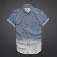 Royal Palms Beach Denim Shirt