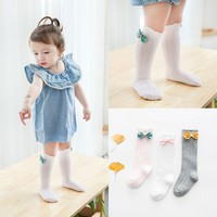 1 Pairs Cotton Knee High Socks With Bows