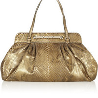 Valentino Metallic python shoulder bag – 50% at THE OUTNET.COM