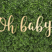Oh Baby Sign Printed and Unprinted Signs Trendy Unique