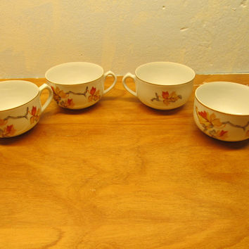 VINTAGE TEA CUP MADE IN JAPAN SET OF FOUR
