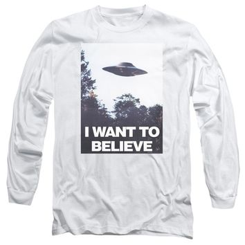 X Files - Believe Poster Long Sleeve Adult 18/1 Officially Licensed Shirt