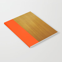 Stripe and Wood Notebook by All Is One