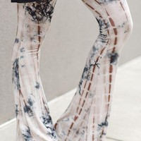 Cher Tie Dye Flare Pants - Taupe