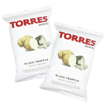 Torres Black Truffle Potato Chips, 3-Pack Small Bag, (3x1.4 oz)