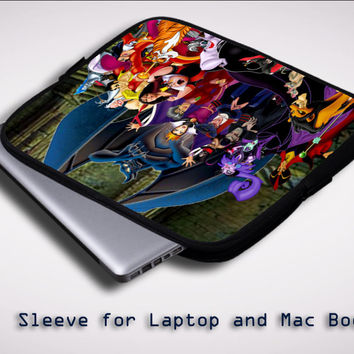 New Disney Villains Z1466 Sleeve for Laptop, Macbook Pro, Macbook Air (Twin Sides)