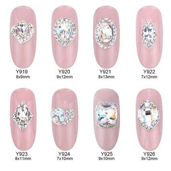 DCCKLO3 10pcs Crystal strass nagel decorative nail art rhinestones alloy 3d decorations glitter nail jewelry manicure accessories Y919