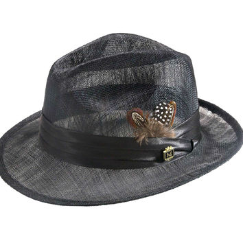 Men's Mesh Sinamay Straw Pinch Hat By Montique H-23