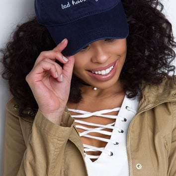 Bad Hair Day Baseball Cap - Navy