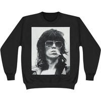 Rolling Stones Men's  Keith Smoke Sweatshirt Black Rockabilia