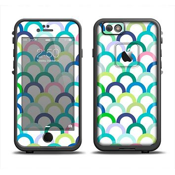 The Vibrant Fun Colored Pattern Hoops Apple iPhone 6 LifeProof Fre Case Skin Set