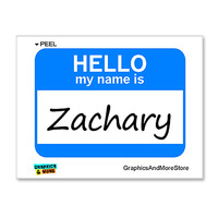 Zachary Hello My Name Is Sticker