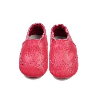 Leather Baby Permeable Anti-skid Handcrafts Shoes [4919351172]