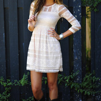 Mona Lisa Smile Dress: Ivory | Hope's