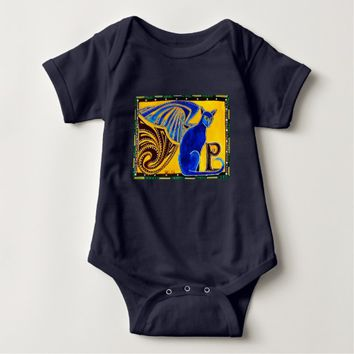 Winged Feline Hybrid Warrior Cat Design Baby Bodysuit