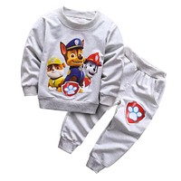 NEW 2017 Spring Baby Boys Clothing set Casual Sport patrulha pata Tracksuit Infant Toddler boys Clothes Top T shirt + Pants