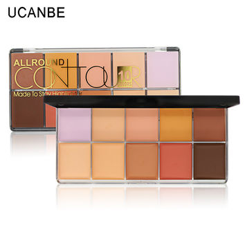 10 Colors Concealer Palette Makeup Waterproof Smooth Professional Contour Palette Skin Flaws Full Cover Brightening Concealer