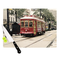 "Sylvia Cook ""Canal Street Car"" Travel Urban Cutting Board"