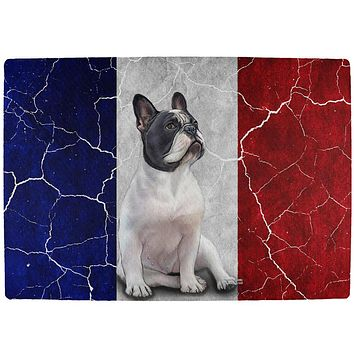 French Bulldog Live Forever Flag All Over Indoor Mat
