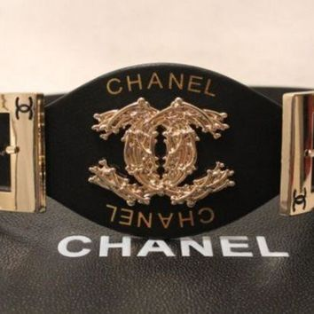 CHANEL Woman Fashion Smooth Buckle Belt Leather Belt