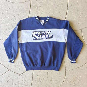 Vintage Penn State sweatshirt / retro 80s 90s PSU Pennsylvania State University mittany lions sweater / mens womens large oversized college