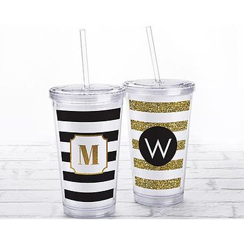 Acrylic Tumbler with Personalized Insert - Classic