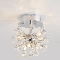 LightInTheBox® K9 Crystal Chandelier with 6 Lights in Globe Shape, Mini Style Chandeliers Modern Ceiling Light Fixture for Hallway, Bedroom, Living Room, Bulb Included