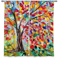 Window Curtains Unlined from DiaNoche Designs Artistic, Stylish, Unique, Decorative, Fun, Funky, Cool by Karen Tarlton Poetry of a Tree