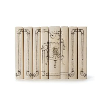 Set of Eight Steampunk With Pipes Books