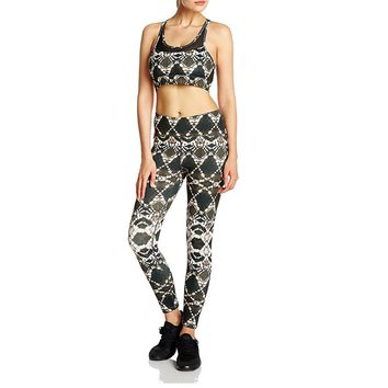 SPECIAL MAGIC brand sports suits bra+pants yoga leggings fitness workout gym sportwear bras Printing Geometric Active for women