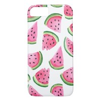 Watercolor Watermelon Slices iPhone 7 Case