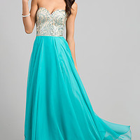 Nina Canacci Strapless Prom Gown