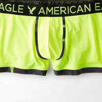 AEO Men's Piped Classic Length Performance Trunk (Photon Yellow)
