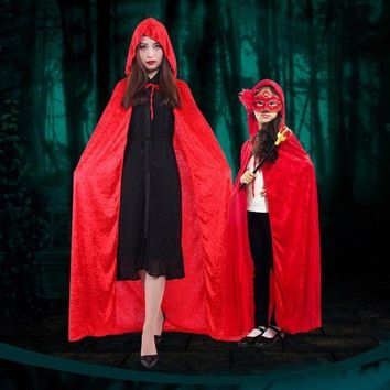 ESBON Halloween Personality Little Red Riding Hood Costume Party Adult Children Small Red Cap Cosplay Clothing Halloween For Women