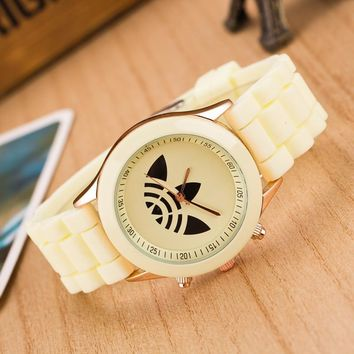 Designer's Good Price Trendy Gift New Arrival Awesome Great Deal Hot Sale Korean Stylish Fashion Silicone Leaf Watch [8563402823]