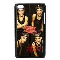 Custom Justin Bieber Hard Back Cover Case for iPod Touch 4th IPT47