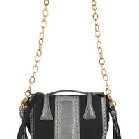 Okapi - Yemaja small ostrich and leather shoulder bag