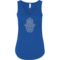 Grey Hamsa OM Lightweight Flowy Yoga Tank Top