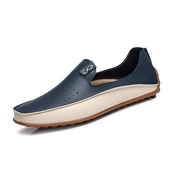 Mens Two Tone Loafer Shoes