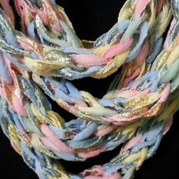Super Long Sparkly Woman's Ribbon Scarf Wrap