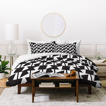 Karen Harris Bravo Black And White Duvet Cover