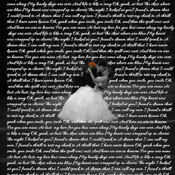 Wedding Song Lyrics Bride and Groom Photo Art Custom Photo Editing