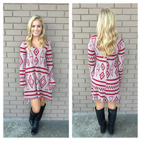 Beginning Of Time Knit Long Sleeve Dress