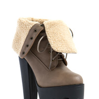 Hike On Shearling Platform Booties GoJane.com
