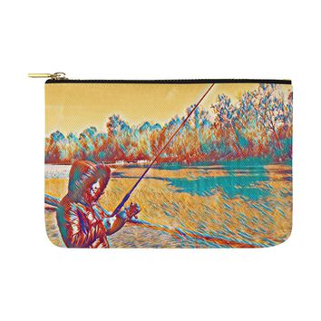 Levi Thang Fishing Design 4 Carry-All Pouch 12.5''x8.5''