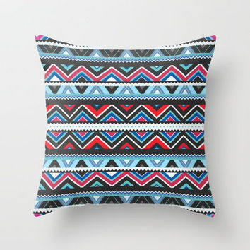 Aztec #9 Throw Pillow by Ornaart